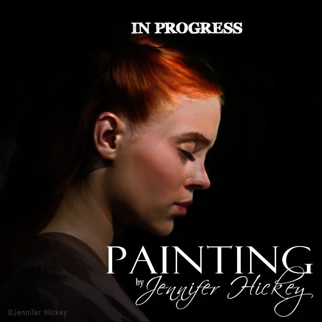 Instagram Painting RedinBlack