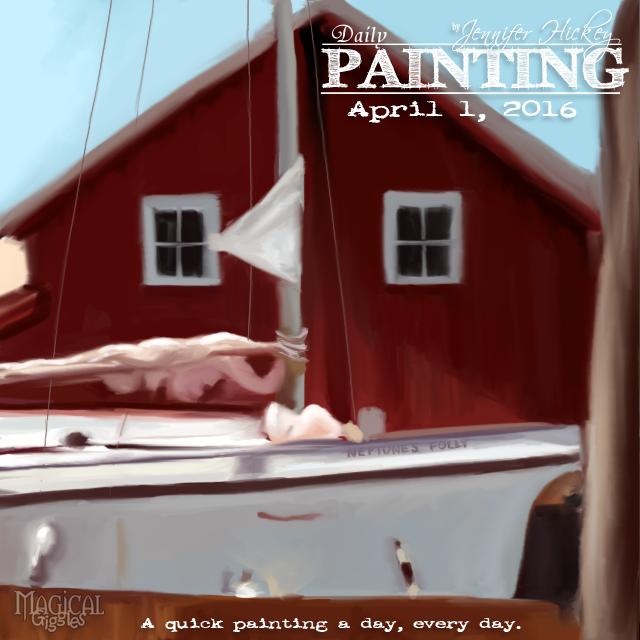 Instagram PaintingADayApril1