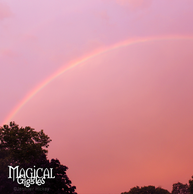 I did not find a pot of gold, but I still believe in magic....sort of.